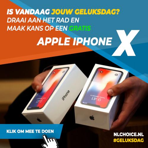 NL Choice - Is vandaag jouw geluksdag? Draai aan het rad en maak kans op een Apple iPhone X!